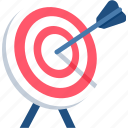 achievement, aim, dartboard, focus, goal, success, victory icon