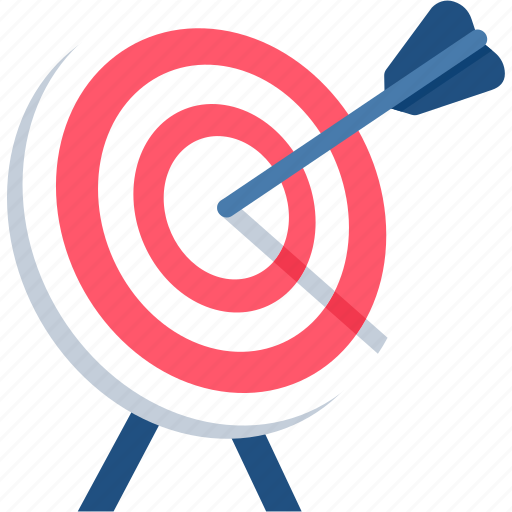 achievement, aim, dartboard, focus, goal, success, victory icon