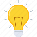bulb, electric, idea, innovative, light, new idea icon