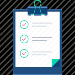 agenda, business, businesswork, clipboard, list, planner, points icon