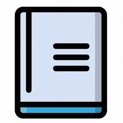 copybook, file, notebook, notes, text icon
