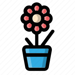 flower, flowerpot, plant, pot, vase icon