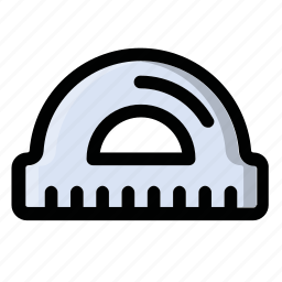 centimetre, liner, measure, protractor, ruller icon