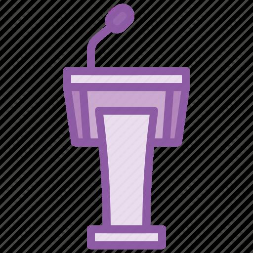 audion, mike, podium, presentation, speaker, table icon
