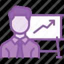 employee, graph, growth, chart, performance