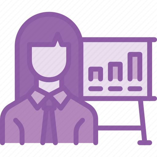 chart, employee, graph, performance, report icon