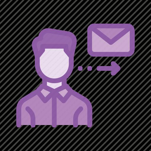 employee, job, letter, mail, meddage, send icon