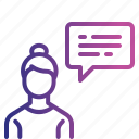 employee, communication, chatting, talk, conversation icon