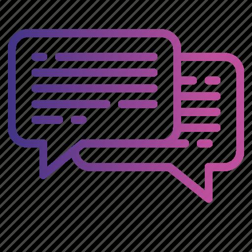 chatting, communication, conversation, help icon