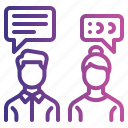 chatting, office, communication, discussion, employee, talk icon