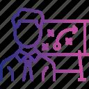 goal, graph, presentation, report, statistics, tactics icon