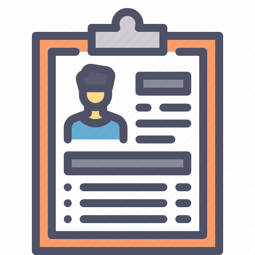 cv, detail, employee, report, resume icon