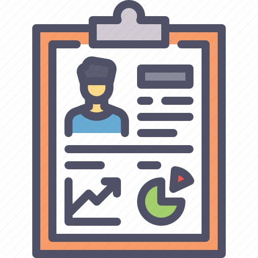 analysis, detail, employee, graph, performance, report icon