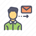 employee, job, letter, mail, meddage, send icon