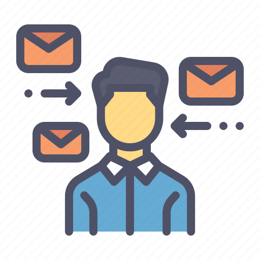 communication, mail, message, receive icon