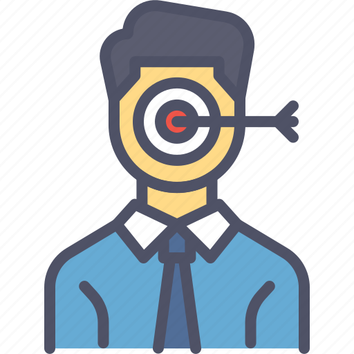 employee, focus, growth, performance, target icon