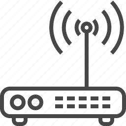 connection, devices, internet, line, office, online, router, technology icon