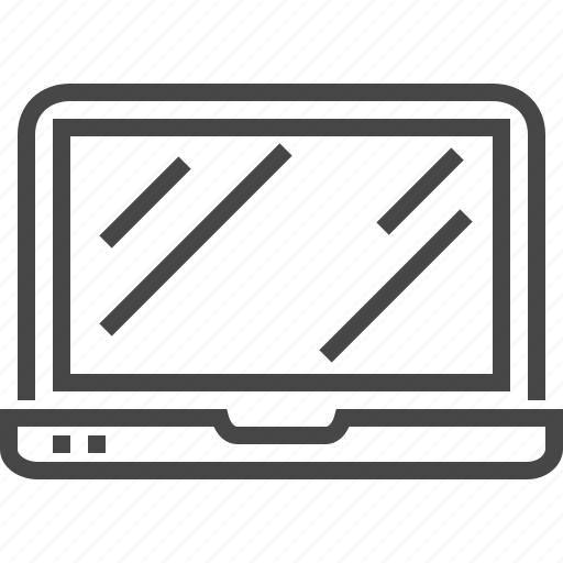 computer, device, devices, laptop, line, office, technology icon