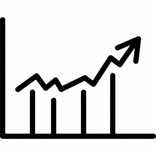 analytics, chart, graph, report, up icon