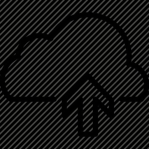 cloud, data, network, storage, upload, uploading icon