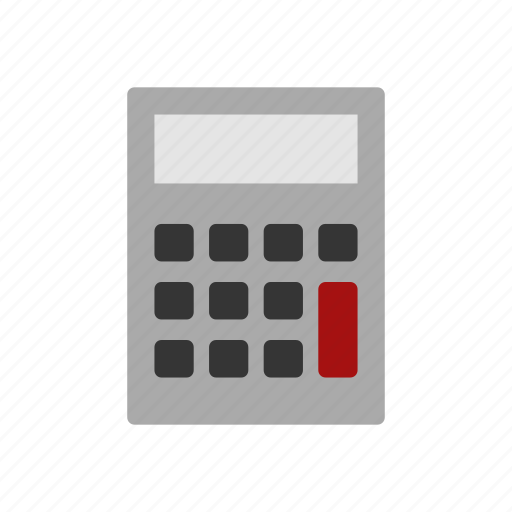 background, calculator, illustration, isolated, sign, silhouette icon