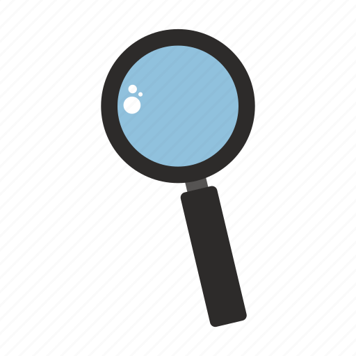 background, illustration, isolated, magnifying glass, sign, silhouette icon