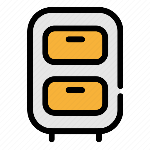 archive, business, nightstand, office icon