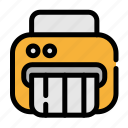 business, office, shredder icon