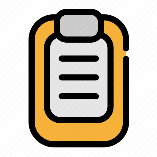 business, listed, notepad, office icon