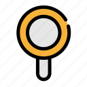 business, magnifier, office, search icon