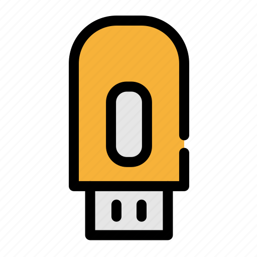 business, computer, drive, flash drive, office icon