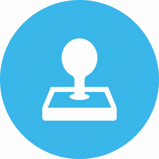 approved, device, office, stamp icon
