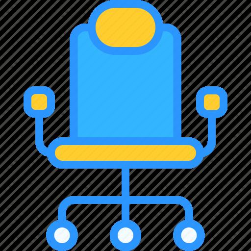 chair, desk, equipment, job, office, work, workspace icon
