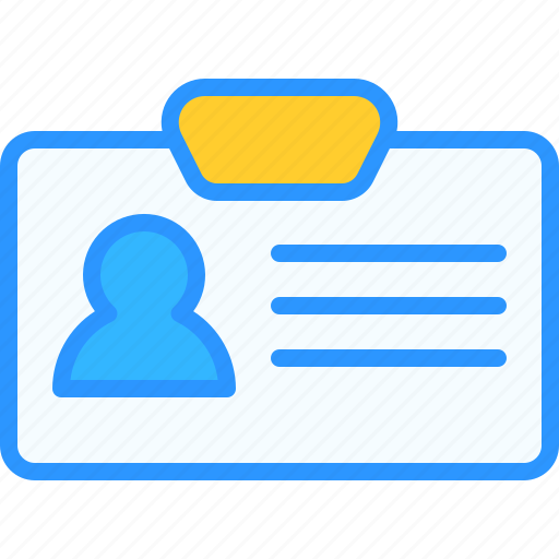 card, equipment, id, job, office, work, workspace icon