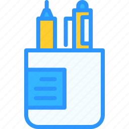 case, equipment, job, office, pencil, work, workspace icon