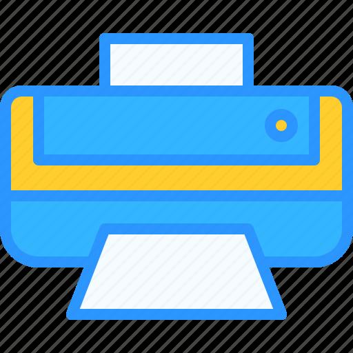equipment, job, office, print, work, workspace icon