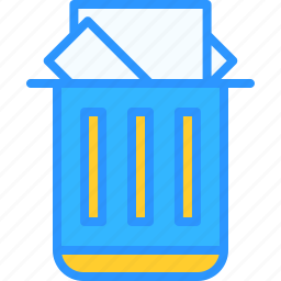 equipment, job, office, trash, work, workspace icon