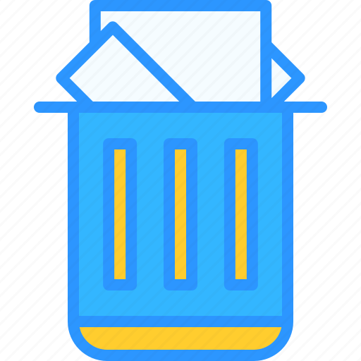 equipment, job, office, trash, work, workspace icon