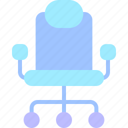 chair, desk, equipment, job, office, work, workspace icon