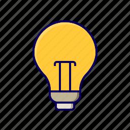 bulb, idea, light, plan, strategy icon