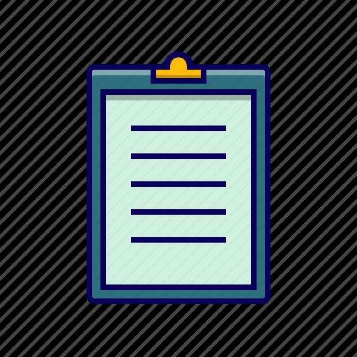 board, checklist, clip, paper icon