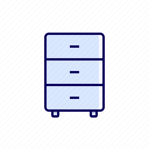 business, desk, drawer, furniture icon, office icon