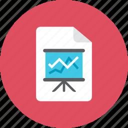 chart, file icon