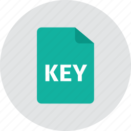 file, key icon