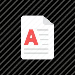article, file icon