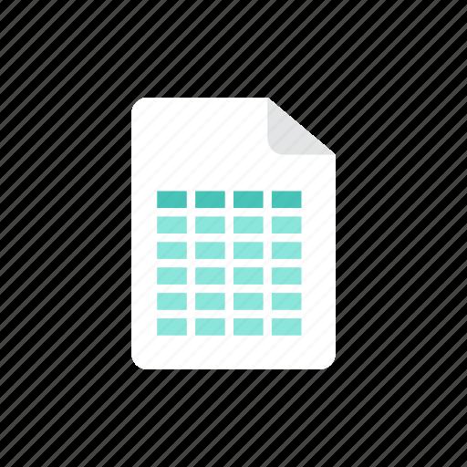 file, spreadsheet icon