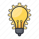 business, concept, creative, idea, lamp, office icon