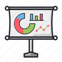 business, chart, graph, office, presentation, statistic icon