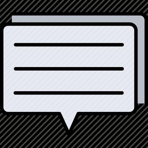 chat, communication, conversation, mail, message, talk icon