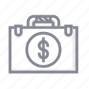 bag, case, dollar, handbag, money, office, purse icon